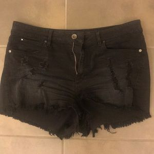 Guess brand black denim shorts